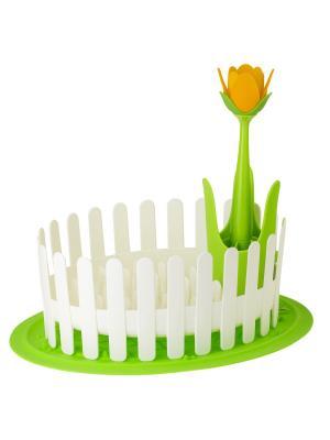 Сушилка для посуды и столовых приборов VIGAR. Цвет: белый, зеленый