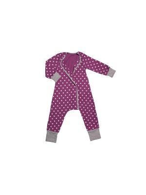 Пижама Bambinizon. Цвет: фиолетовый