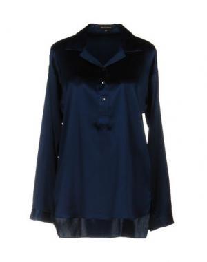 Блузка WALTER VOULAZ. Цвет: темно-синий