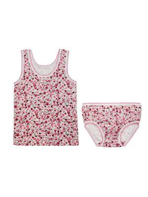 Комплект белья Жанэт. Цвет: розовый