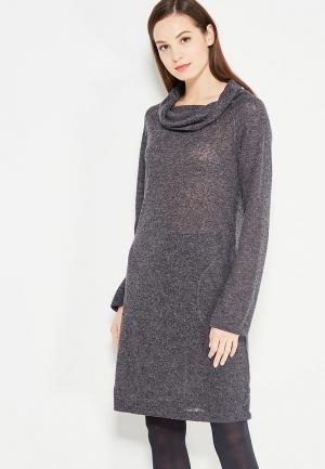 Платье Luhta. Цвет: серый
