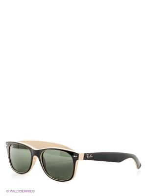 Очки солнцезащитные Ray Ban. Цвет: черный, кремовый