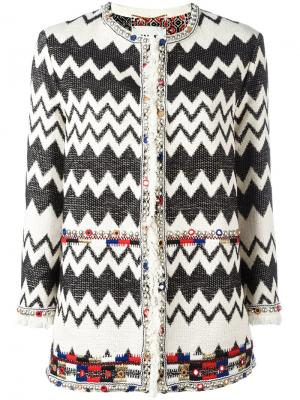 Куртка с узором зигзаг Bazar Deluxe. Цвет: телесный
