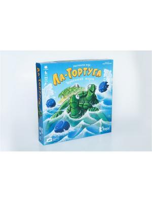 Игра Ла-Тортуга. Черепаший остров Cosmodrome Games. Цвет: синий, зеленый, морская волна, бирюзовый, светло-оранжевый