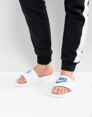 Nike Белые шлепанцы Benassi JDI 343880-102. Цвет: белый