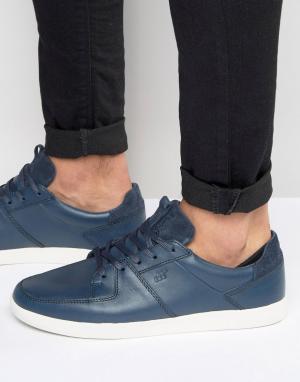 Boxfresh Кожаные кроссовки Cladd. Цвет: синий