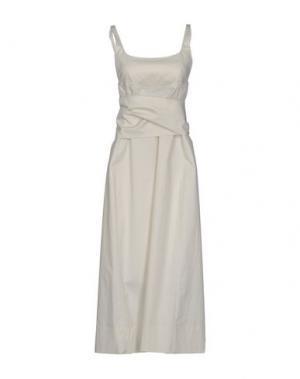 Платье длиной 3/4 GARAGE NOUVEAU. Цвет: бежевый
