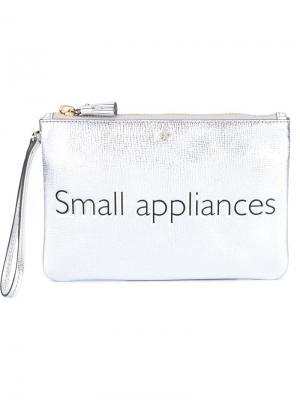 Клатч  Small Appliances Anya Hindmarch. Цвет: металлический