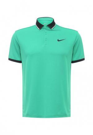 Поло Nike. Цвет: зеленый