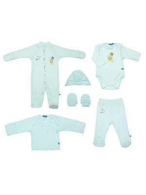 Комплект одежды на выписку SNO KATT. Цвет: голубой