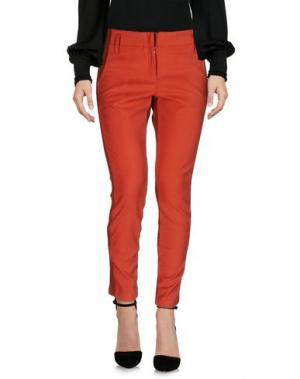 Повседневные брюки BONSUI. Цвет: ржаво-коричневый