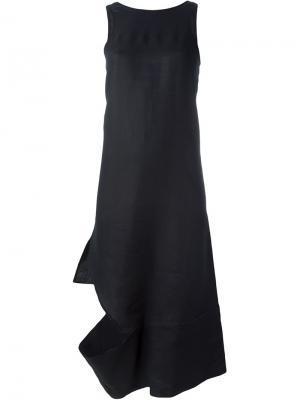 Асимметричное платье с вырезными деталями Eckhaus Latta. Цвет: чёрный