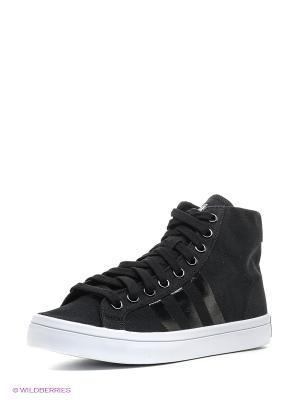 Кеды Courtvantage Mid Adidas. Цвет: черный