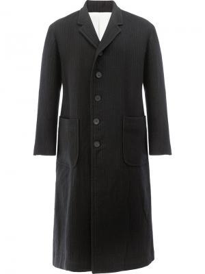 Однобортное пальто 08Sircus. Цвет: чёрный