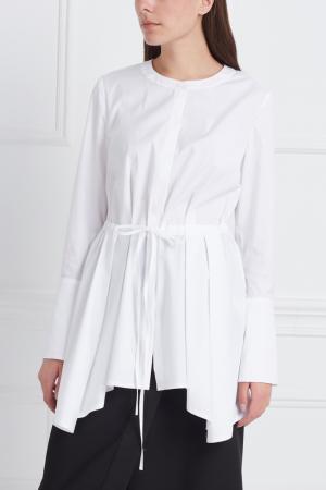 Хлопковая блузка Studia Pepen. Цвет: белый