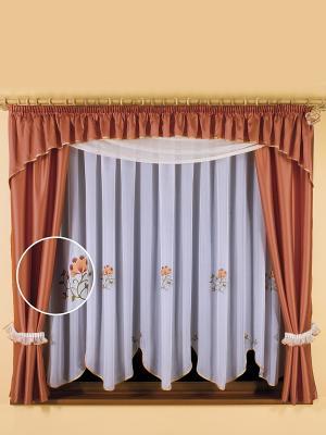 Комплект штор Wisan. Цвет: оранжевый