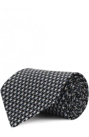 Комплект из шелкового галстука и платка Lanvin. Цвет: черный