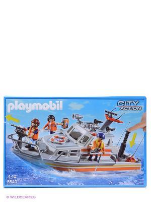 Береговая охрана Спасательный крейсер Playmobil. Цвет: белый