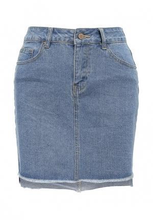 Юбка джинсовая Befree. Цвет: синий