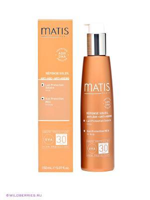 Молочко солнцезащитное для тела SPF30 загара Matis. Цвет: оранжевый