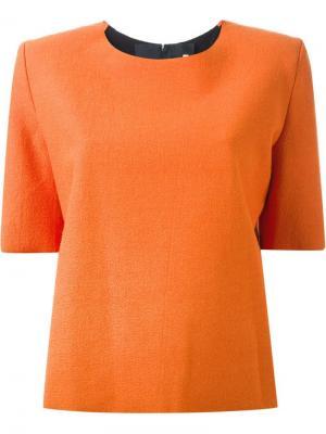 Топ мешковатого кроя Thomas Tait. Цвет: жёлтый и оранжевый