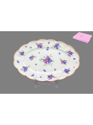 Блюдо Сиреневый туман Elan Gallery. Цвет: белый, голубой, сиреневый