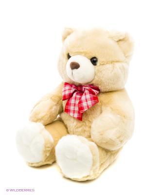 Медведь с бантом PLUSH APPLE. Цвет: бежевый
