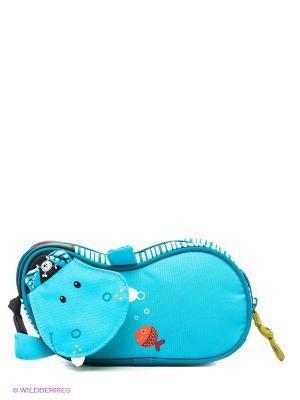 Пенал Бегемотик Арнольд Lilliputiens. Цвет: бирюзовый, голубой, черный