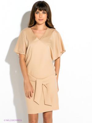 Платье GUESS. Цвет: кремовый