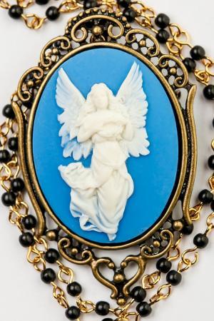 Брошь-кулон Винтаж Beatrici Lux. Цвет: голубой
