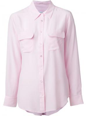 Классическая рубашка Equipment. Цвет: розовый и фиолетовый