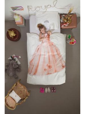 Комплект постельного белья Принцесса 150х200см SNURK. Цвет: розовый