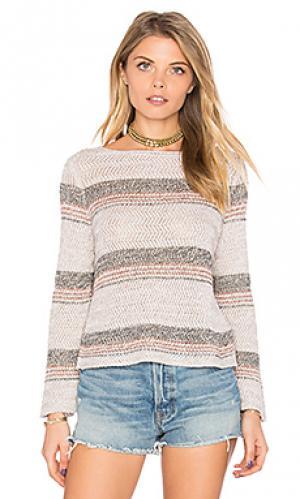 Укороченный свитер с рисунком угловая скобка Autumn Cashmere. Цвет: серо-коричневый