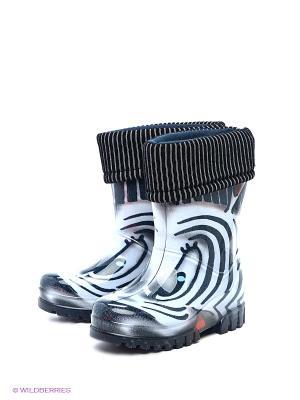 Резиновые сапоги DEMAR. Цвет: черный, синий
