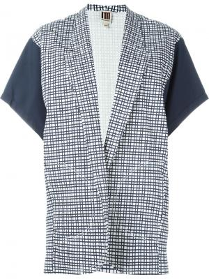 Пиджак с рукавами-кимоно в клетку IM Isola Marras I'M. Цвет: синий