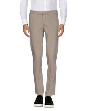 Повседневные брюки MAISON CLOCHARD. Цвет: голубиный серый