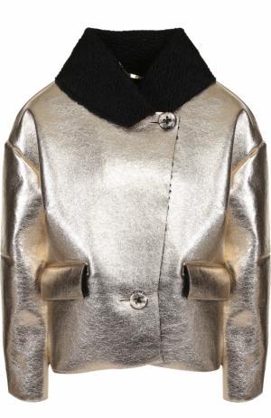 Куртка свободного кроя с металлизированной отделкой 5PREVIEW. Цвет: золотой