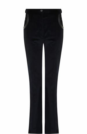Вельветовые расклешенные брюки Nina Ricci. Цвет: темно-синий