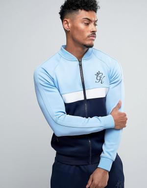 Gym King Обтягивающая спортивная куртка. Цвет: синий