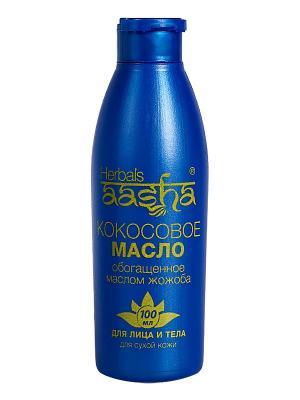 Масло кокосовое для лица и тела с маслом Жожоба Aasha Herbals. Цвет: прозрачный
