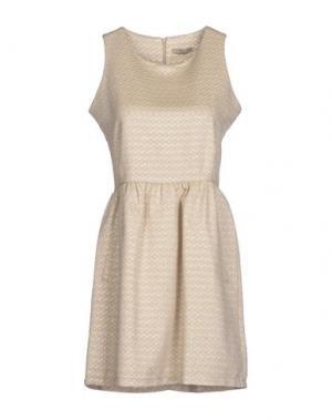 Короткое платье H²O LUXURY. Цвет: бежевый