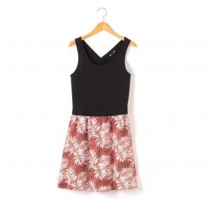 Платье с эффектом 2 в 1, 10-16 лет La Redoute Collections. Цвет: черный