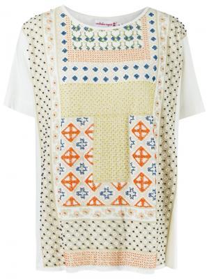 Print embroidered blouse Isabela Capeto. Цвет: телесный