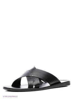 Шлепанцы Mario Ponti. Цвет: черный