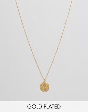 Ottoman Hands Ожерелье с подвеской Flower Of Life. Цвет: золотой