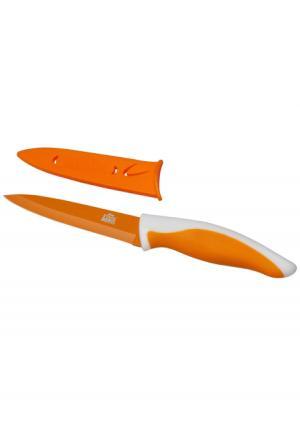 Нож в пластиковом чехле PICNIC Gipfel. Цвет: оранжевый