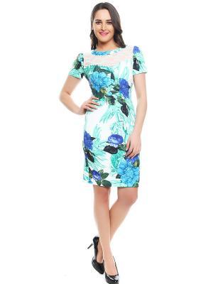 Платье TOPSANDTOPS. Цвет: зеленый, синий