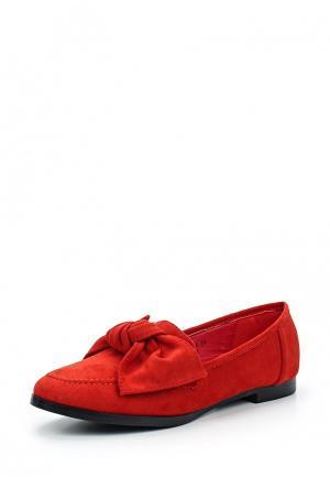 Лоферы Sweet Shoes. Цвет: красный