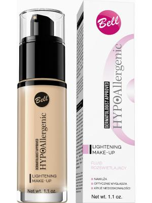 Флюид придающий сияние кожи гипоаллергенный Bell Hypoallergenic Lightening Make-up ,Тон 03. Цвет: бежевый