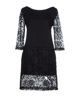 Короткое платье DANIELA FARGION. Цвет: черный